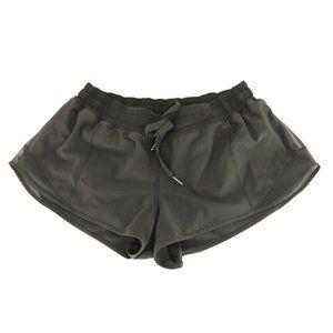 Lululemon Shorts 10 Womens Solid Black Built in Un